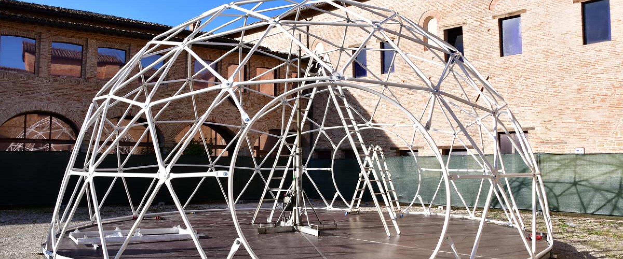 allestimento cupola planetario