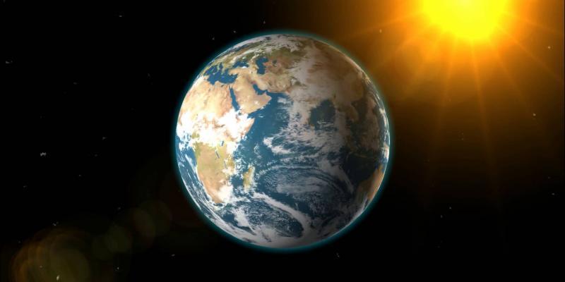 la terra nello spazio